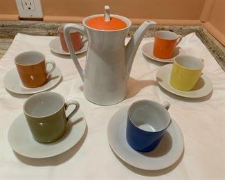 Vintage Noritake Coffee Pot and Demitasse Set