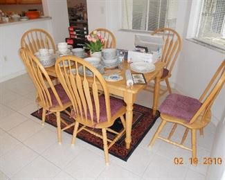 Kitchen Table with 6 Chairs, China Sets
