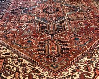 Several 12.5' x 10' Persian rugs, Herris, Sarough, Kashan, Tabriz and more