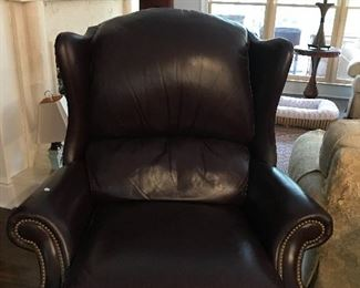 Leather recliner.