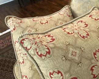 Duvet and cushions.