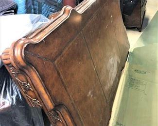 Antique Leather Top Desk/table
