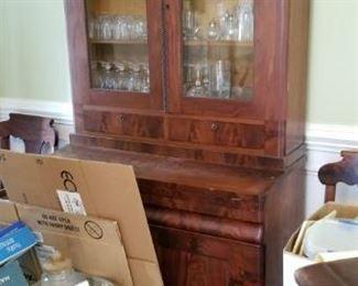 1870s-80s bookcase desk