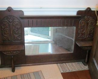 hutch mirror Antique B