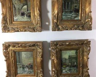Quartet of Italian Paintings by R. Vellini https://ctbids.com/#!/description/share/215144
