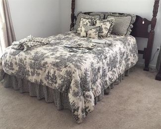 King size bed cherry Bedding