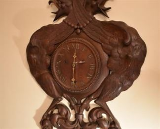 Fantastic hand carved Black Forest wall clock