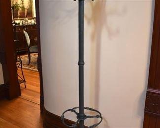 Vintage or antique heavy cast iron coat rack/umbrella stand