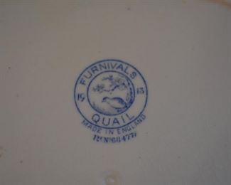 Large set of Furnivals Quail dinnerware