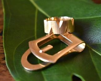 14K ring and money clip