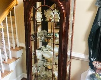 This is a gorgeous display curio cabinet - lighted too!