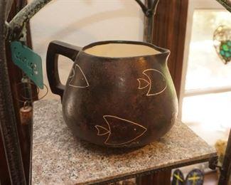 Art pottery pitcher