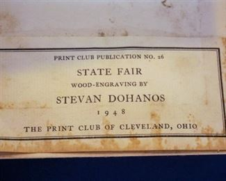 "Steven Dohanos ""State Fair"" art print from 1948"