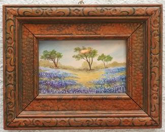 Small Texas landscape painting