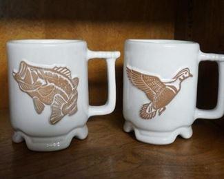 Frankoma pottery mugs