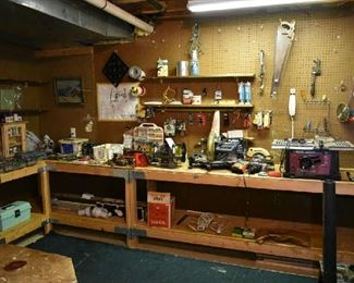 TOOL ROOM IN BASEMENT