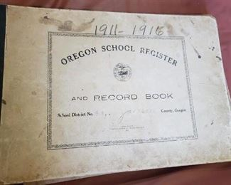 Some very interesting Oregon School Documentation Vintage Paper