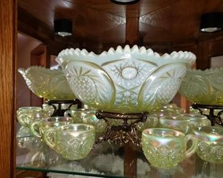 Fostoria Punch Bowl Set