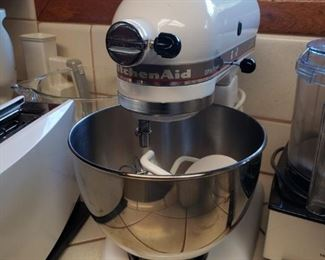 One of the two KitchenAid mixers