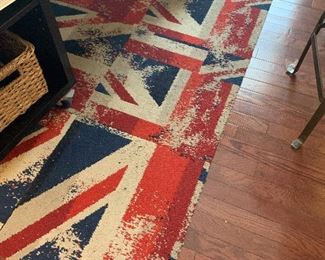 Union jack flag pattern FLOR tile (can be configured in multiple ways). 12 tiles total.