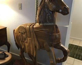 Hand carved carousel 🎠 horse approx 5ft tall