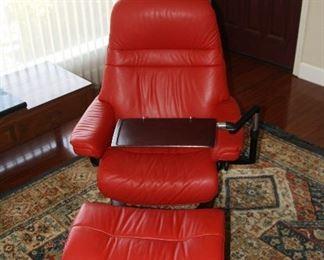 Ekornes stressless Sunset leather recliner x2