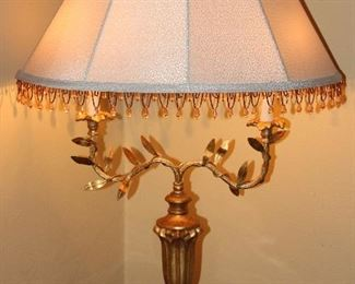 Vintage Italian Florentine 2 Arm Table Lamp