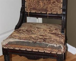 Antique Walnut Eastlake Side Chair (all Original)