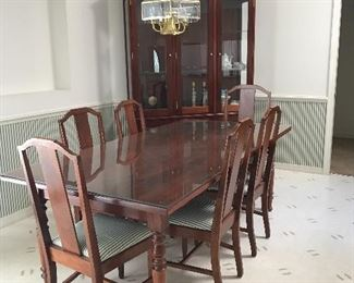 Custom made Solid Walnut Dining Room set 30.5 t x 84 l x 42 w