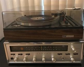 Vintage Elac Miracord 760 West Germany Record player like new, Sansui model 1000 receiver