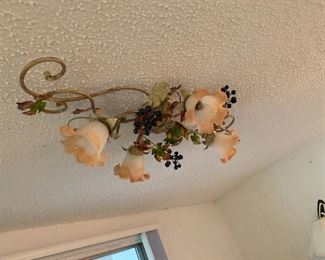 Cool Floral Wrought Iron Ceiling Lamp