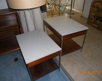 Herman Miller MCM  Side Tables - 1 has Lamp