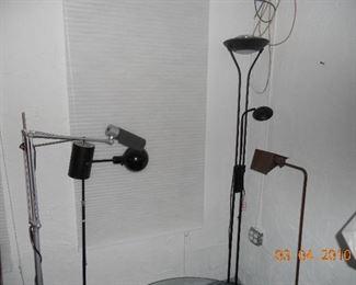 Various MCM Floor Lamps