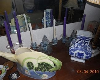 Depression Glass Candlesticks