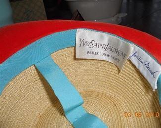 Yves Saint Laurent Ladies Hat Label
