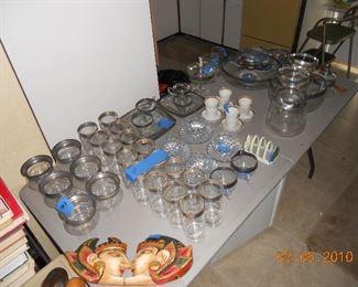 Silver Rimmed Glassware