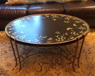 BERNHARDT HAND PAINTED TABLE