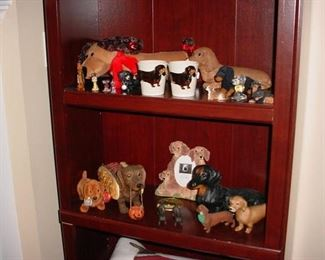 Some of the many dachshund collectibles all over the home