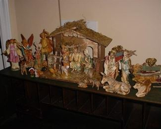 Incredible carved nativity set