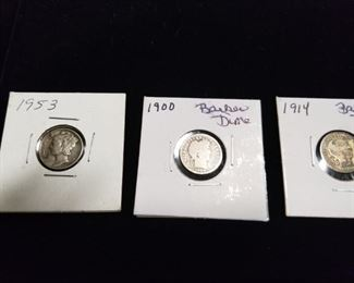 Mercury and Barber Dimes