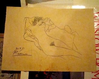 Picasso, dated and signed.