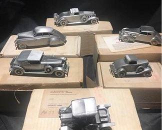 Bradbury Mint Pewter Classic American Motorcar Collection