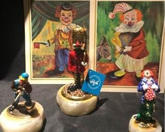 Ron Lee Clowns and Oil Reproductions by Michele