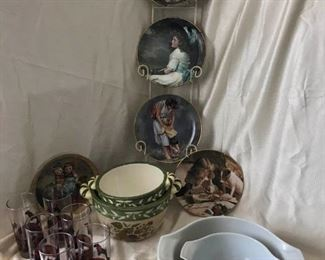 Vintage Plates, Bowls, and Glassware