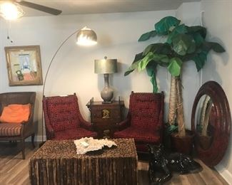 Unique wood branch coffee table and legs piece of Pacific coral