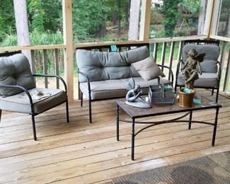 Outdoor patio furniture. One of a couple of sets available.