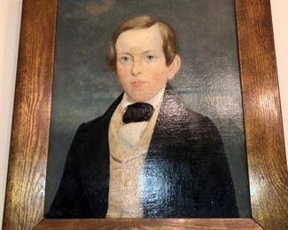 c.1820 oil painted portrait