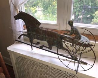 Antique horse & jockey weather vane