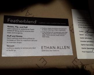 Beautiful Ethan Allen Featherblend sofa.