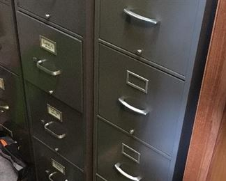 2 4-Drawer File Cabinets
